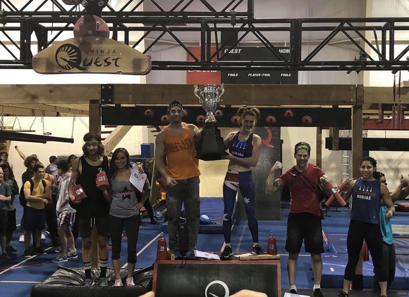 Drew Drechsel & Olivia Vivian win the Season 3 Final Competition of National Ninja League (NNL)