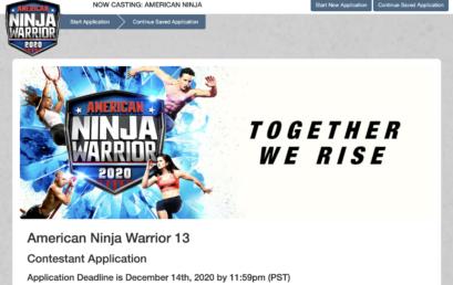 Applications open for casting of Season 13 of American Ninja Warrior in 2021